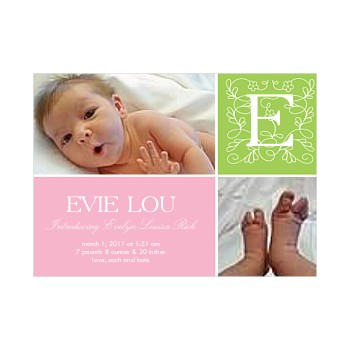 Katy + Little Bug: Evie Lou's birth announcement
